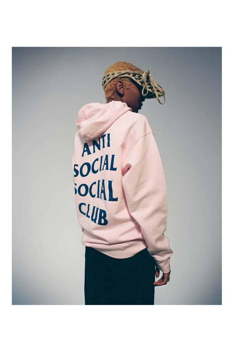 Anti Social Social Club Fall Winter 2019 Still Stressed Lookbook Hoodie Pink