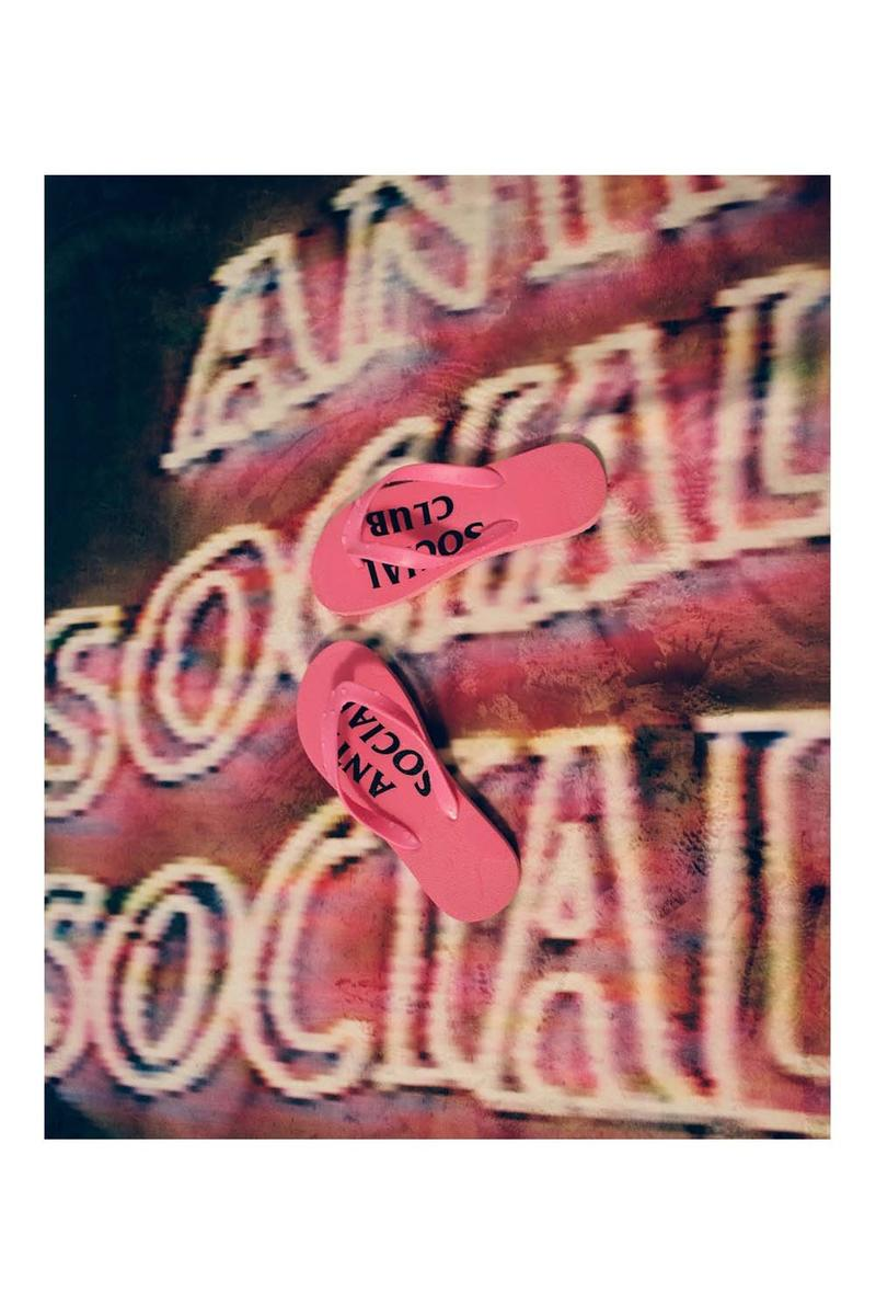 Anti Social Social Club Fall Winter 2019 Still Stressed Lookbook Flip Flops Pink