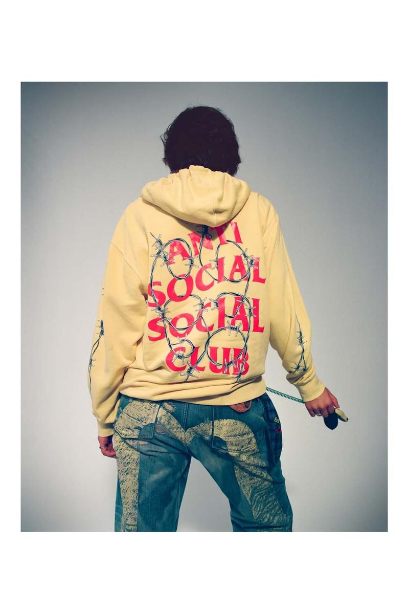 Anti Social Social Club Fall Winter 2019 Still Stressed Lookbook Logo Hoodie Yellow