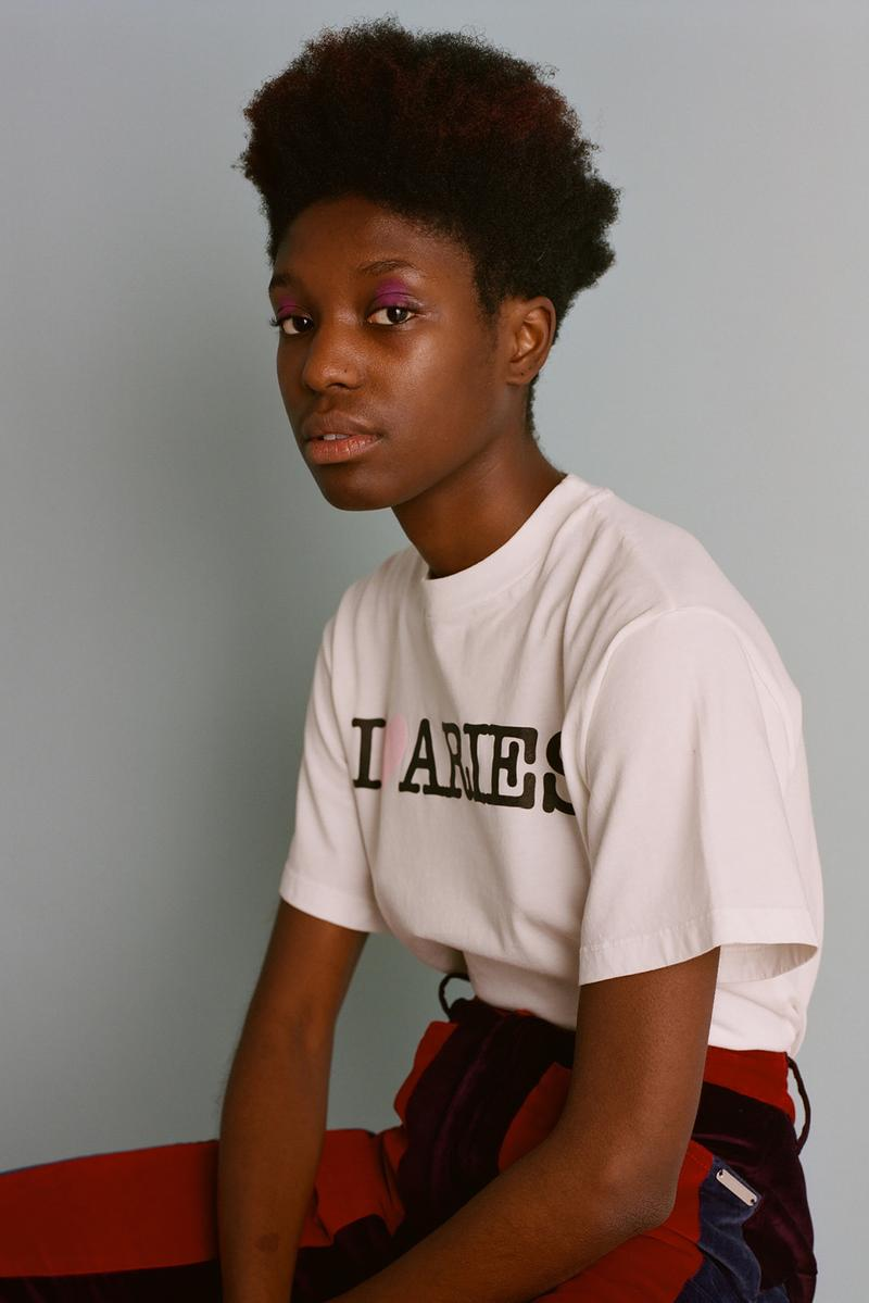 aries fall/winter 2019 collection white t-shirt