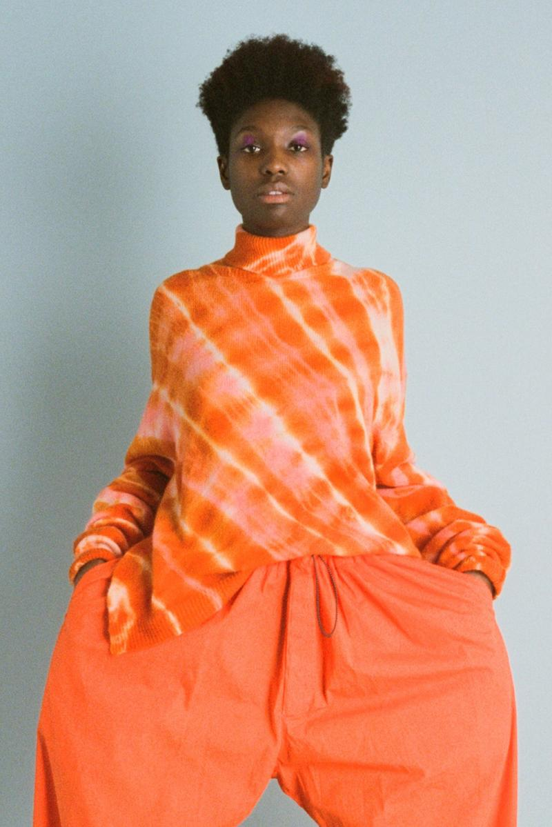 aries fall/winter 2019 collection orange tie-dye shirt