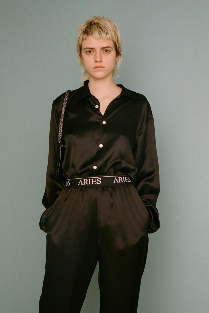 aries fall/winter 2019 collection black shirt sweatpants