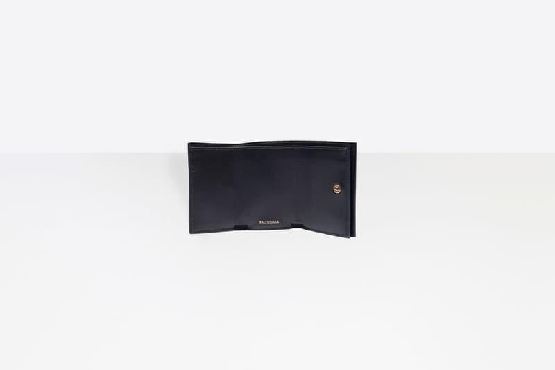 Balenciaga Kitten Ville Mini Wallet Black Gold