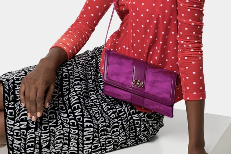 Balenciaga Optical Illusion Logo Cross Body Bag  Purple BB Demna Gvasalia Accessory Luxury