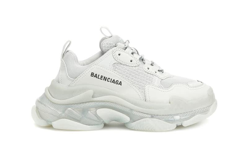 balenciaga triple s pearl grey sneaker