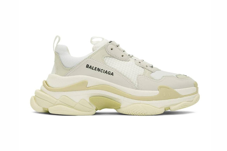 Balenciaga Triple S Sneaker White Restock Hypebae