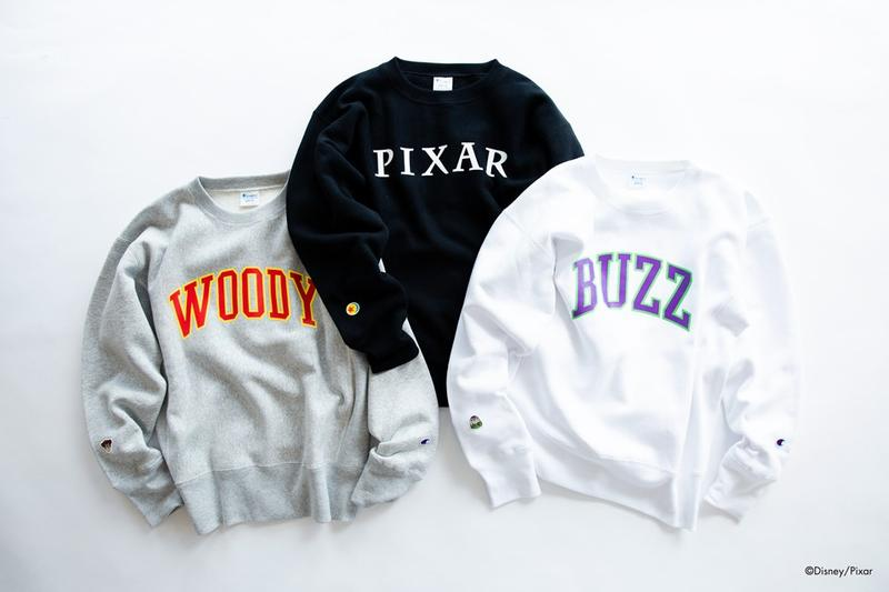 toy story pixar champion beams woody buzz lightyear yu nagaba tshirt sweatshirt