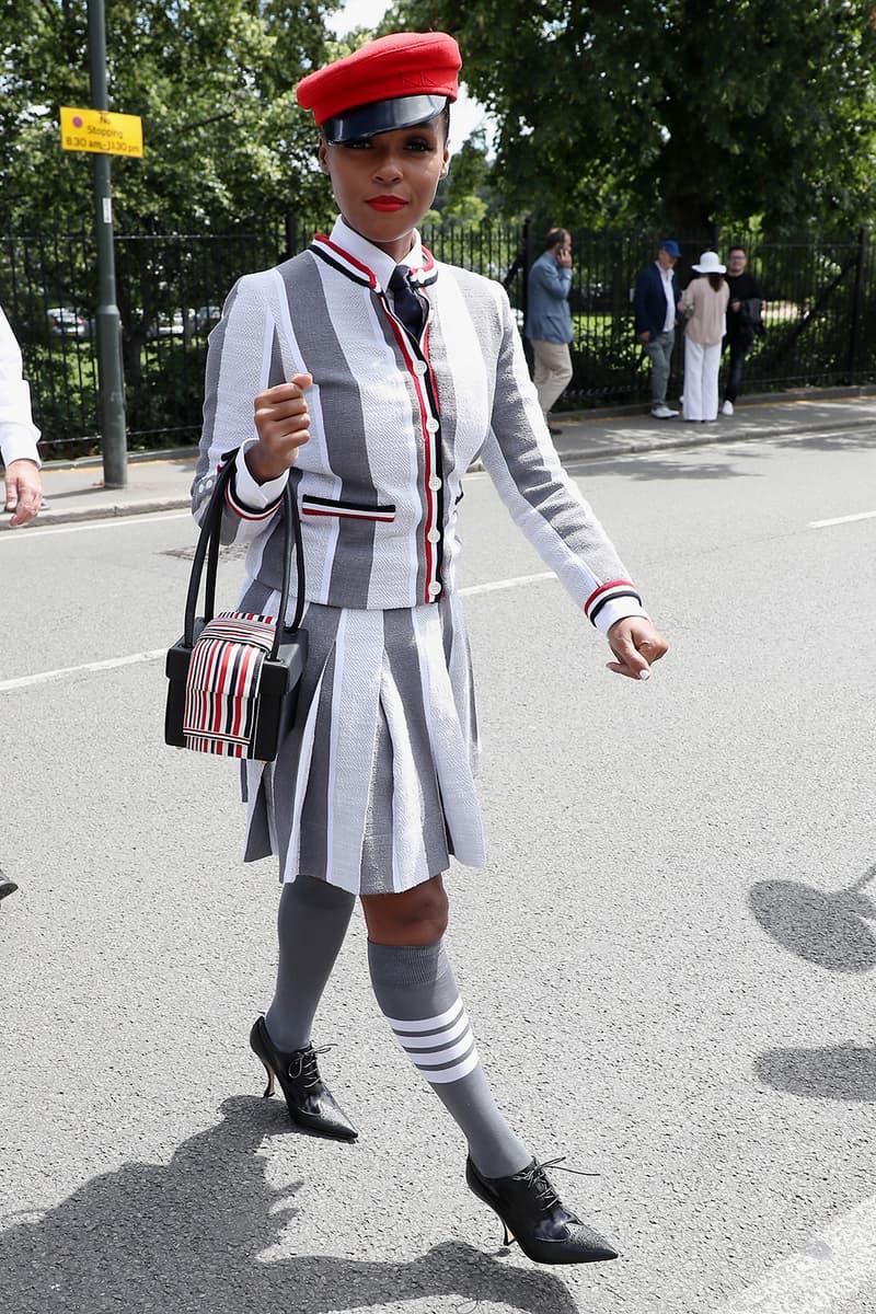 Best Celebrity Looks Wimbledon 2019 Janelle Monáe Maisie Williams Leomie Anderson Maya Jama Adwoa Aboah Nicole Richie Rina Sawayama