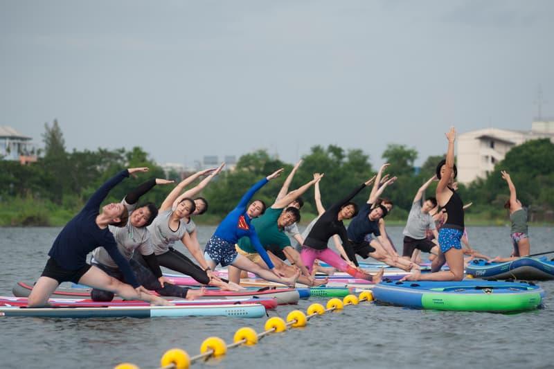 Best Alternative Workouts To Try in London Trampoline FloatFit Paddleboard Yoga Water Dance Hula Hoop Disco Yoga