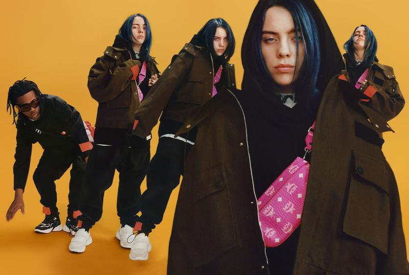 Billie Eilish MCM Fall Winter 2019 Campaign Jacket Green Bag Pink