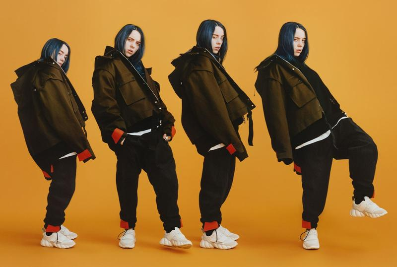 Billie Eilish MCM Fall Winter 2019 Campaign Jacket Green Sweat Pants Black
