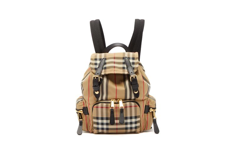 burberry vintage check canvas mini backpack