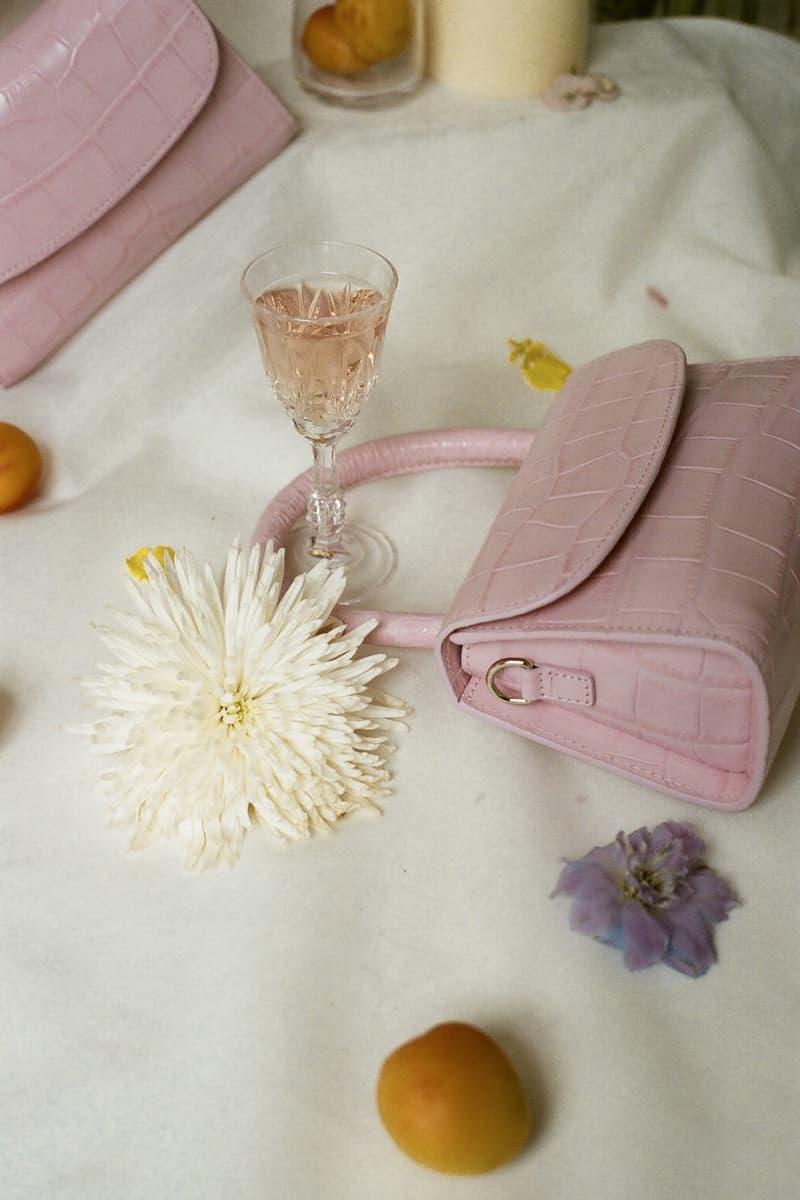 BY FAR Mini Croco Bag Soft Rose
