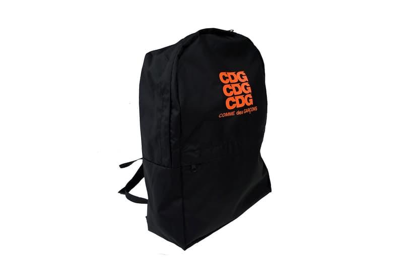 cdg comme des garcons rei kawakubo logo jacket parka zip up backpack