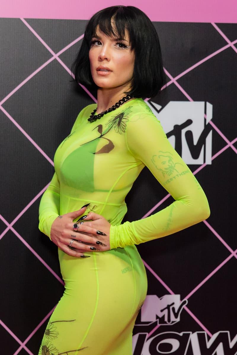 Best Celebrity Neon Beauty and Fashion Looks Summer Halsey Dua Lipa Kylie Jenner Kim Kardashian Lizzo Megan Thee Stallion Billie Eilish Bella Hadid Kehlani Nicki Minaj Shay Mitchell
