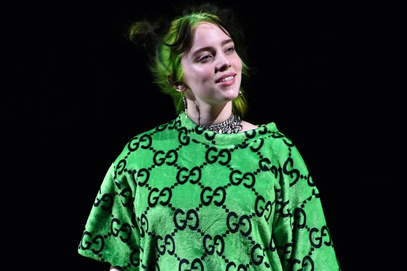Billie Eilish Green Neon Hair Gucci Shirt