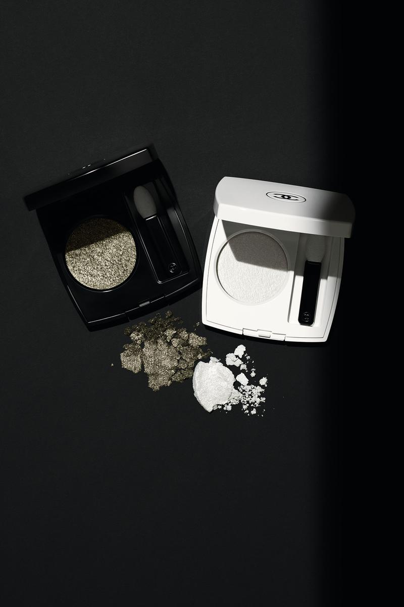 chanel noir et blanc fall makeup collection black white beauty eyeshadow powder