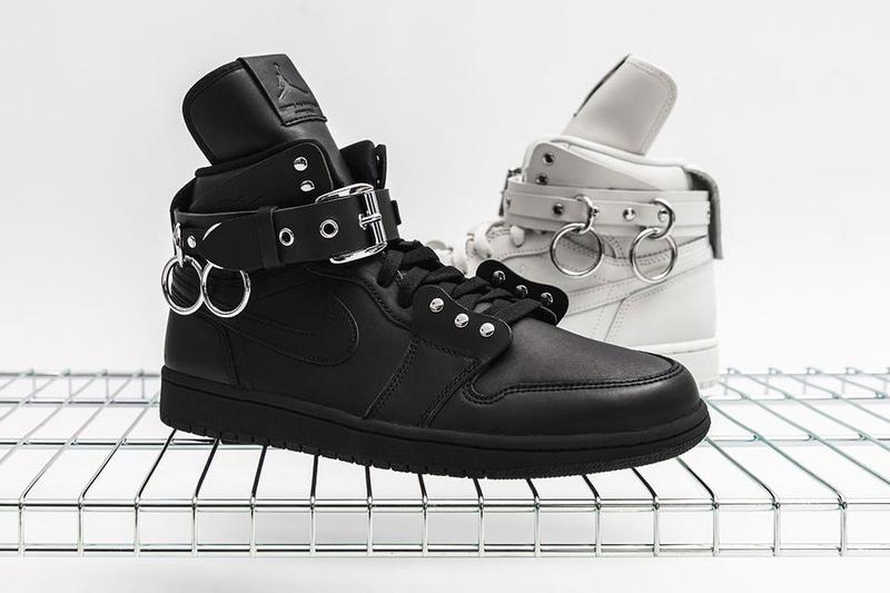 COMME des GARÇONS Nike Air Jordan 1 Retro High Black White Metal Sneaker