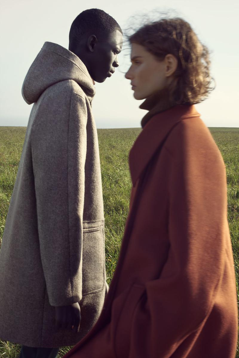 cos fall winter campaign mark borthwick england cashmere knit coat leather jacket