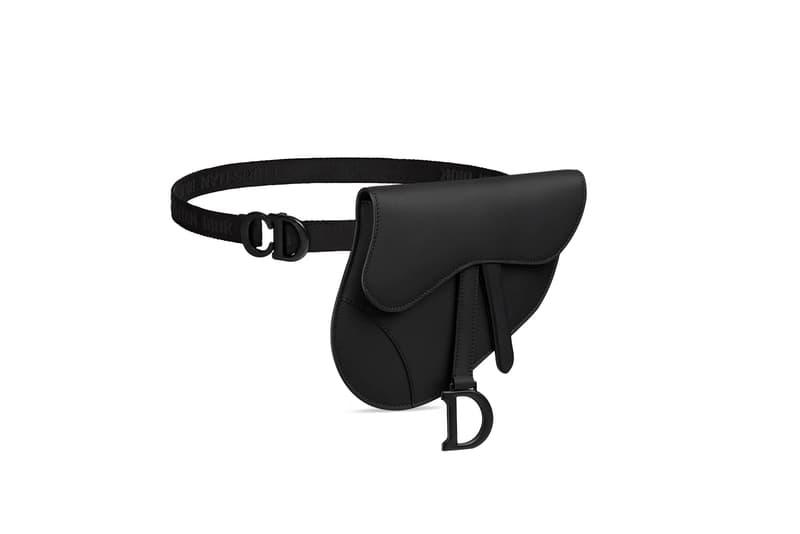 Dior Saddle Bag Belt Bag Christian Dior Logo Black Matte Designer Bag Purse