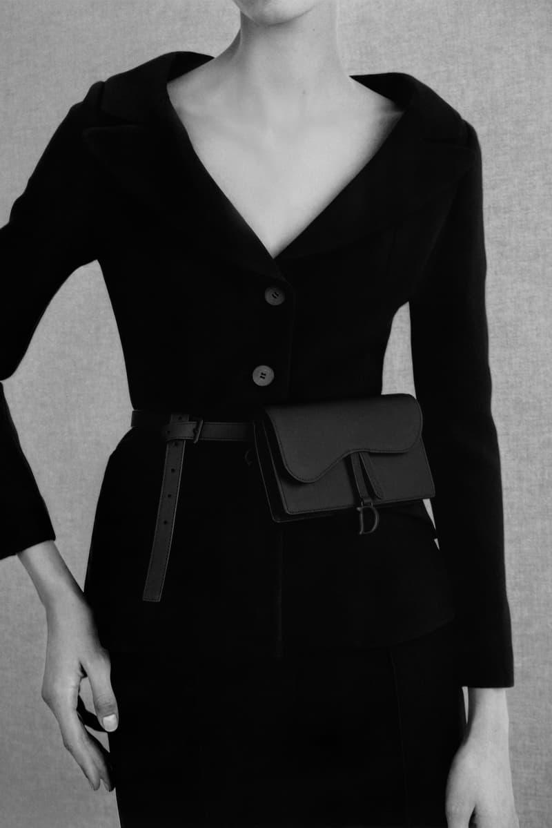 Christian Dior Logo Saddle Belt Bag Matte Black Maria Grazia Chiuri Release Trend Fanny Pack Bum Bag Leather Collection