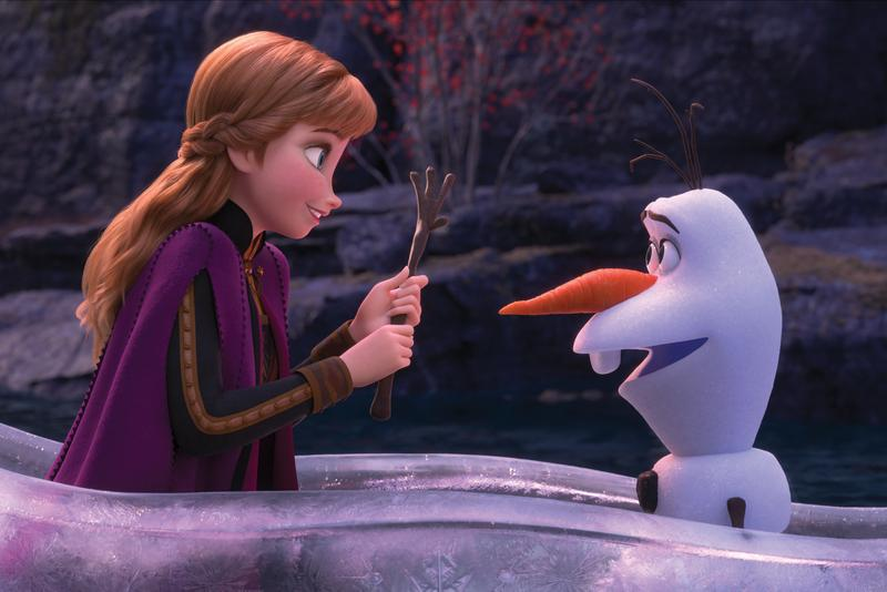 Frozen Anya Olaf Snowman Disney Movie Animated Cartoon