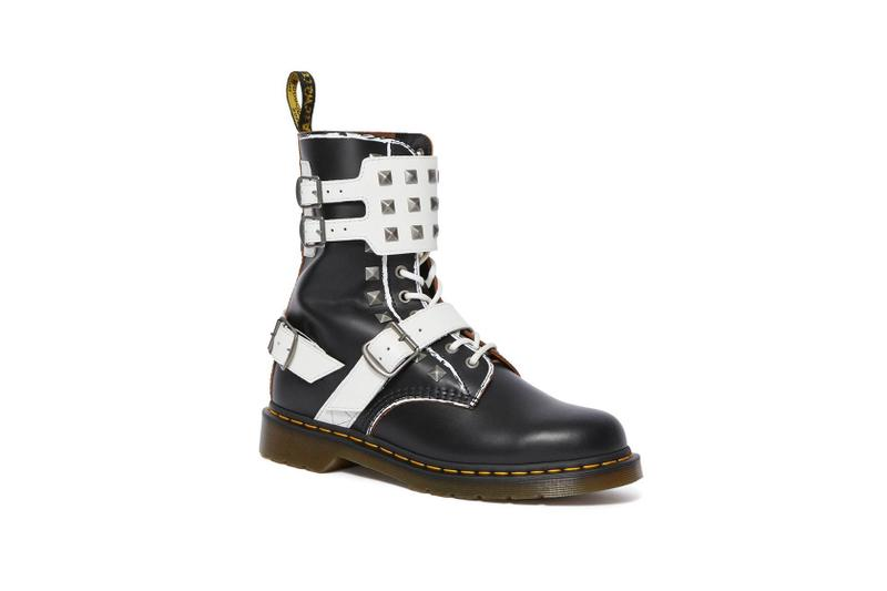 dr. martens studded pyramid studd alternative edge boots backpack punk rock diy custom personal 1460 1490 joska 1461 zambello black white leather high top low top