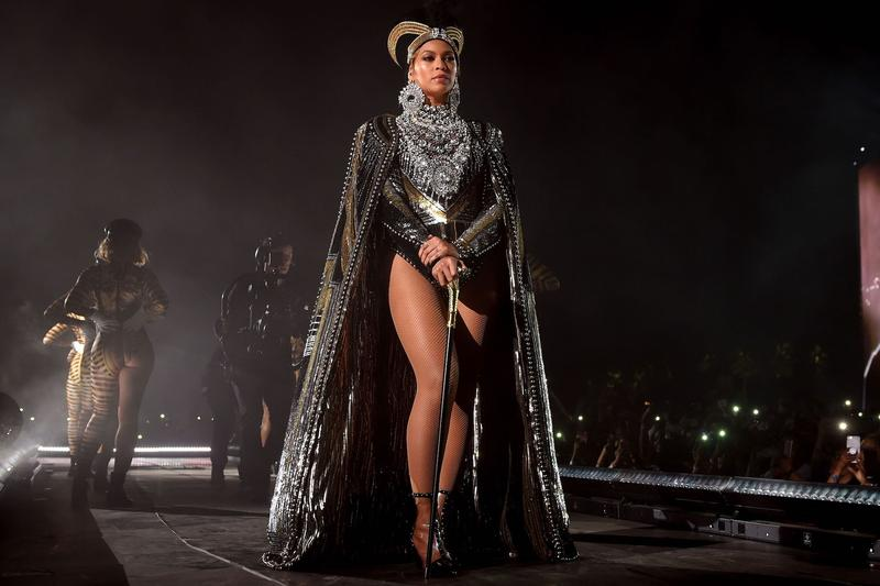 Beyonce Coachella 2018 Festival Crown Outfit Black Silver Gold