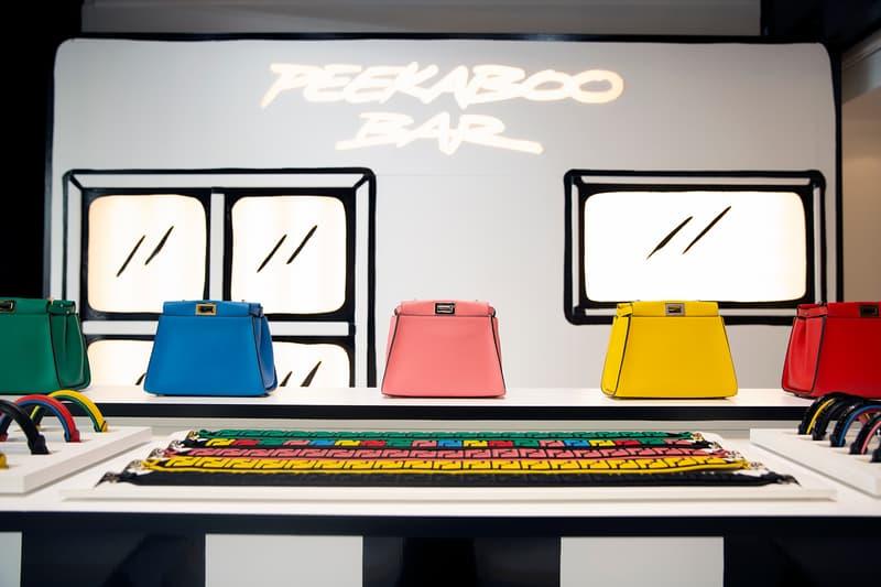 Fendi Café Caffe Customize Peekaboo Bag Bar Harrods London Joshua Vides