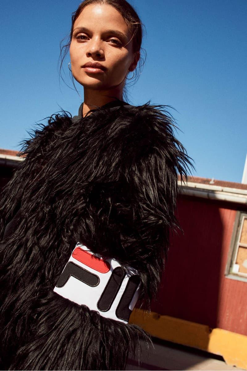 FILA Fall Winter 2019 Heritage Lookbook Faux Fur Jacket
