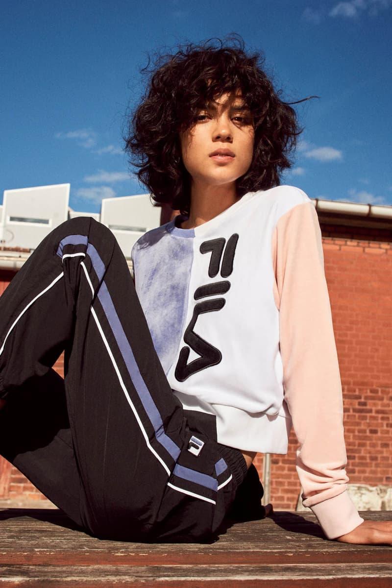 FILA Fall Winter 2019 Heritage Lookbook Sweatshirt Track Pants Sneaker