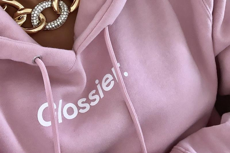 Glossier GlossiWEAR Merch Collection Hoodie Pink