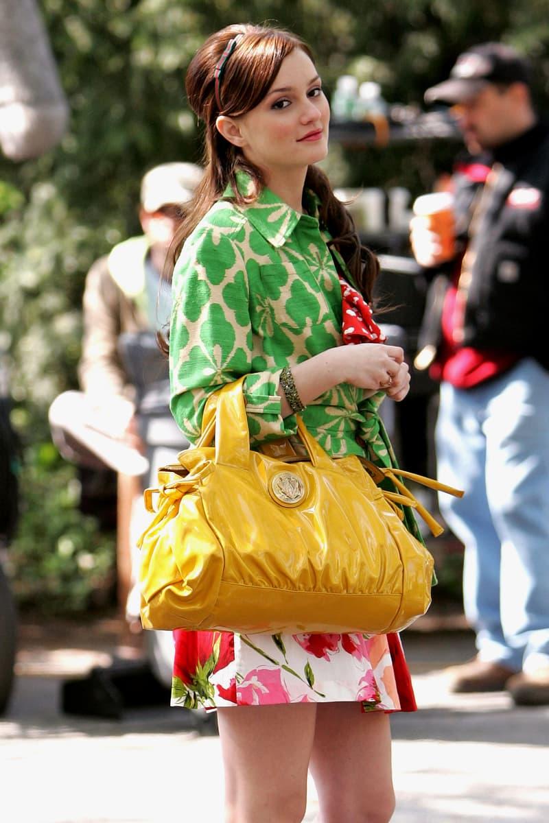 Blair Waldorf Gossip Girl Actress Leighton Meester Headband Handbag Designer Clothes Bag Fashion