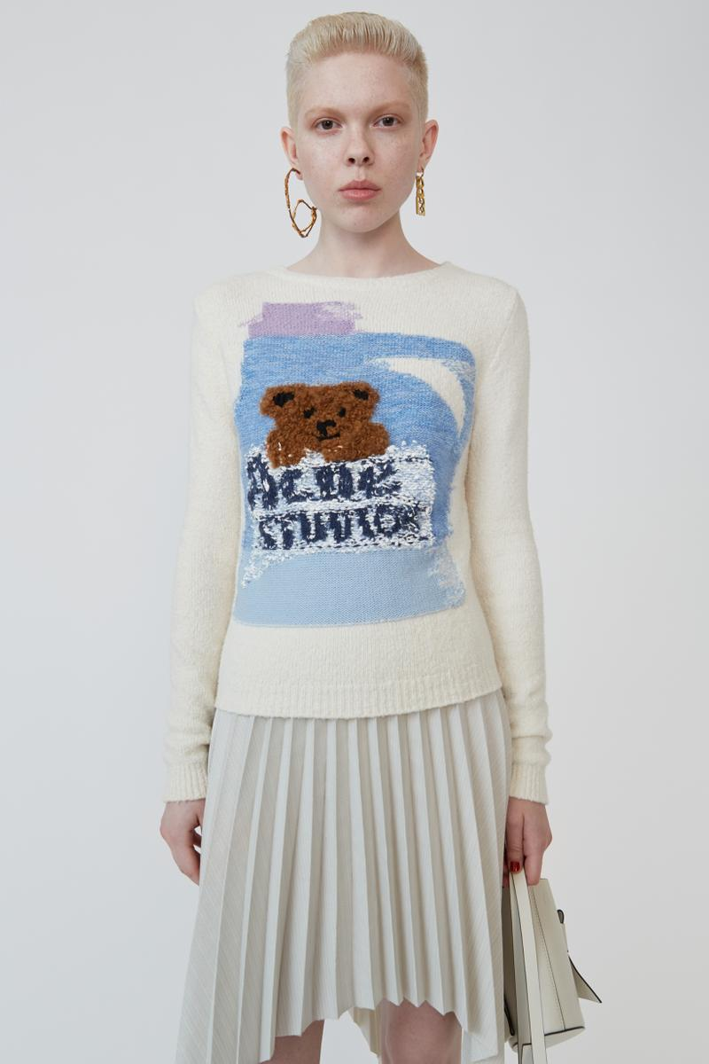 Grant Levy Lucero x Acne Studios Collection Sweater Cream