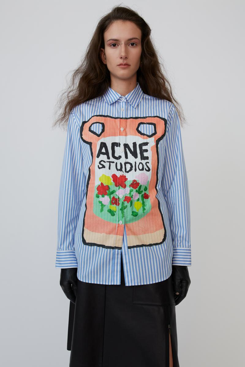 Grant Levy Lucero x Acne Studios Collection Collared Shirt Blue White