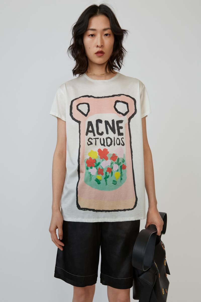 Grant Levy Lucero x Acne Studios Collection T Shirt Cream