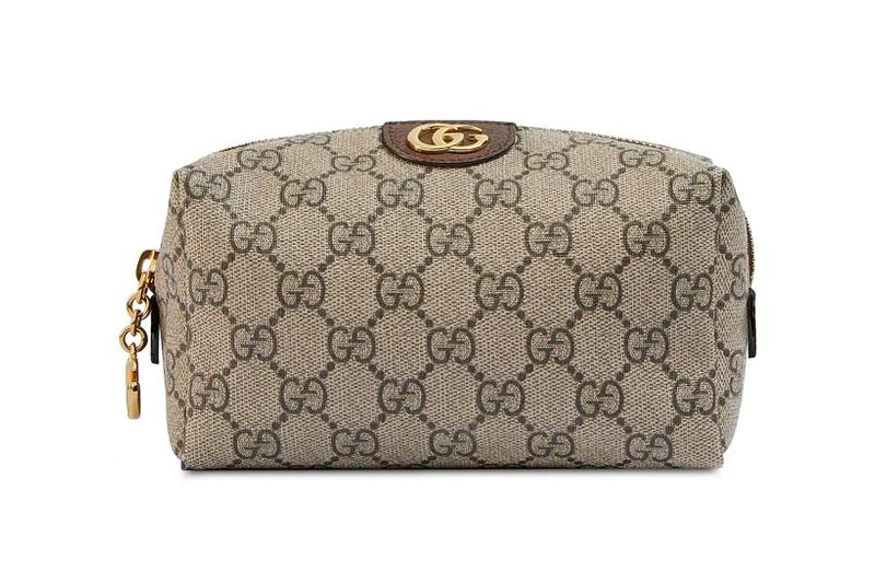 gucci beige ophidia gg cosmetic case browns designer bags makeup beauty luxury