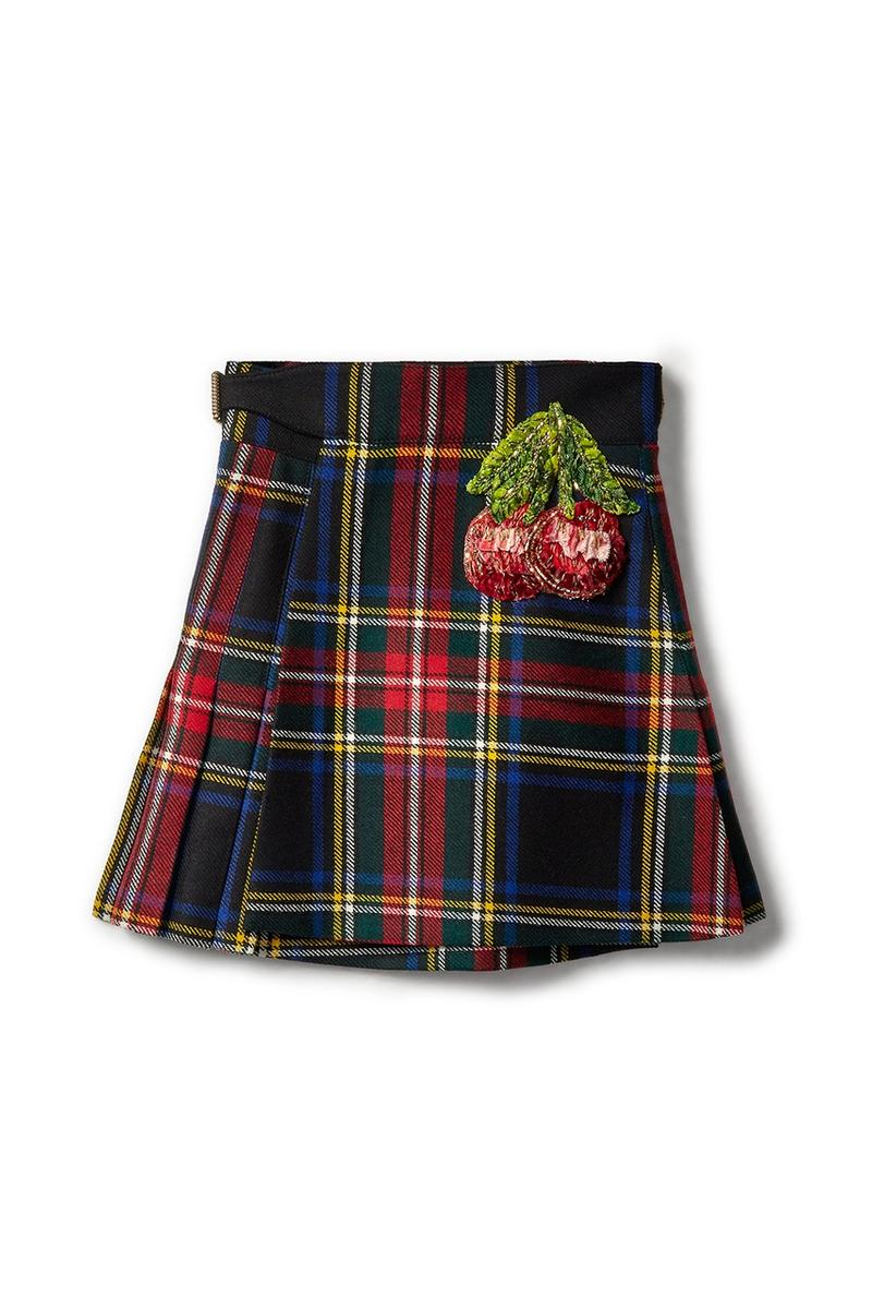 Gucci x Dover Street Market Collection Plaid Skirt Black Red