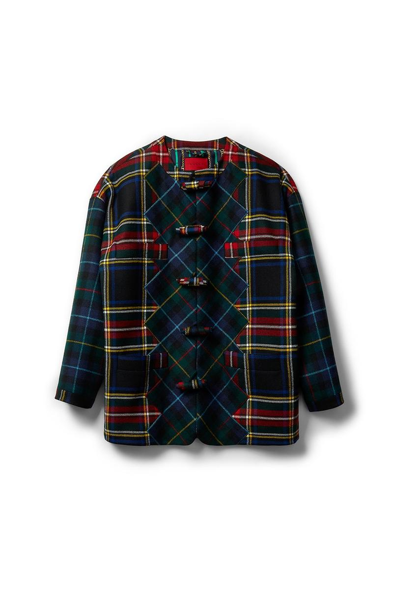 Gucci x Dover Street Market Collection Plaid Jacket Black Blue Red