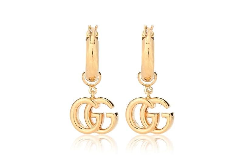 Gucci GG 18-Karat  Gold Earrings Logo Jewelry