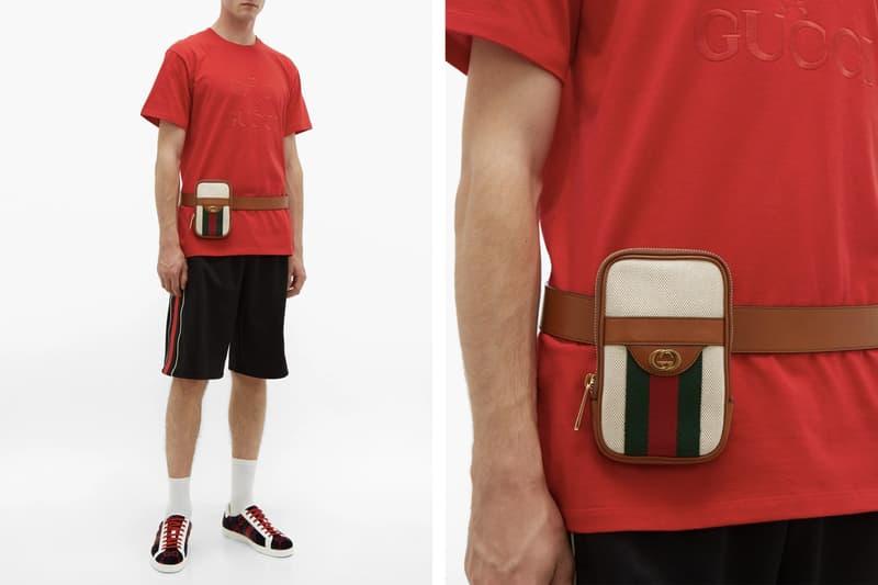 Gucci Retro Logo Belt Bag Phone Case Gold