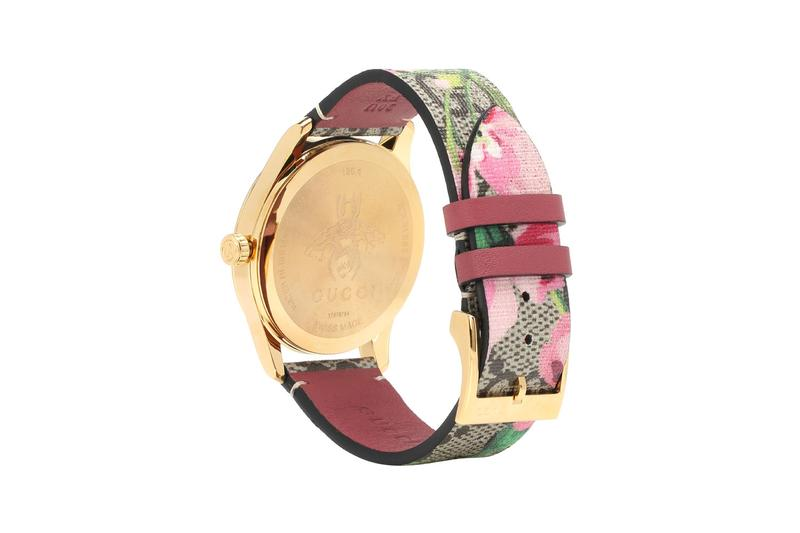 gucci watch timepiece monogram accessories floral alessandro michele