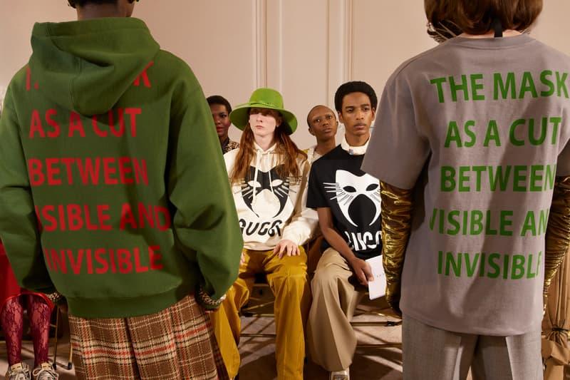Gucci Manifesto Collection Hoodie Green Sweatshirt Grey