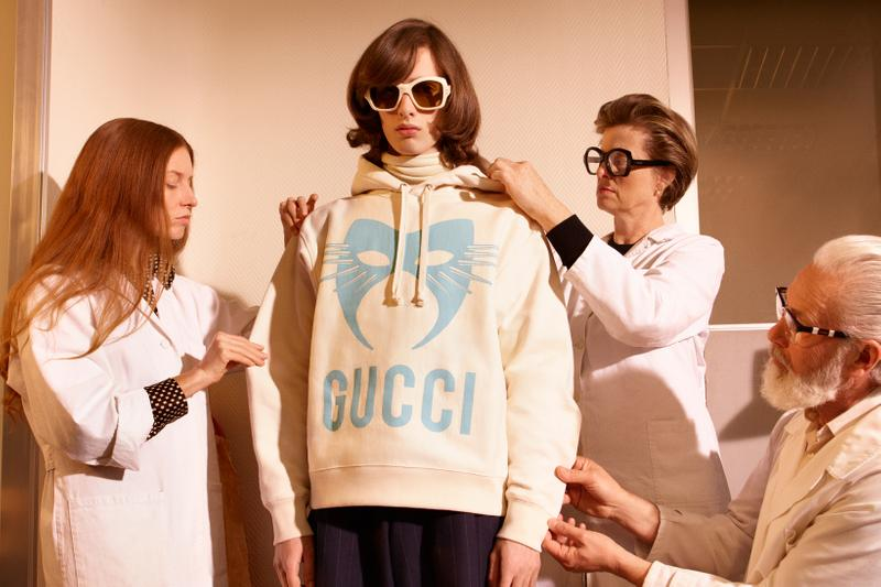 Gucci Manifesto Collection Hoodie Cream