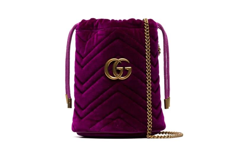 Gucci Mini GG Marmont Bucket Bag Purple