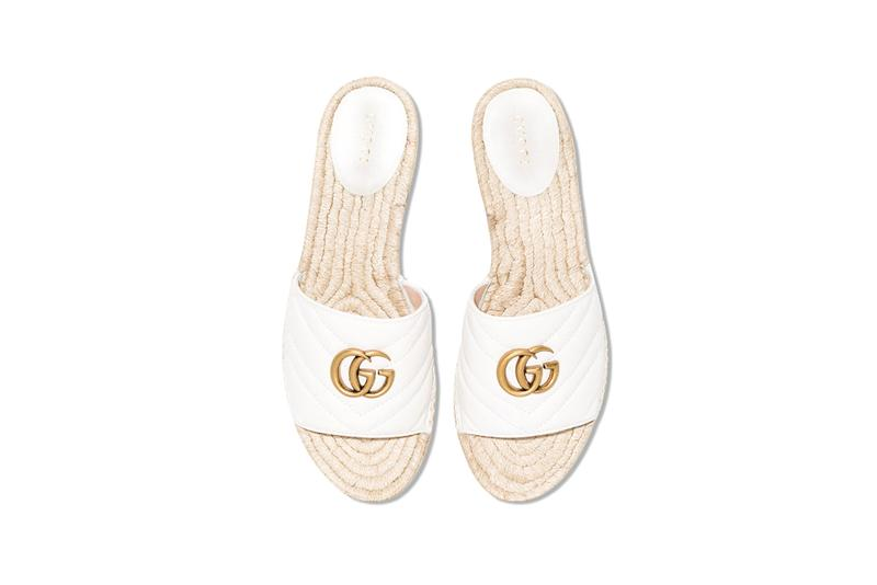 98fe0531a Gucci Releases Quilted White Leather GG Slides | HYPEBAE