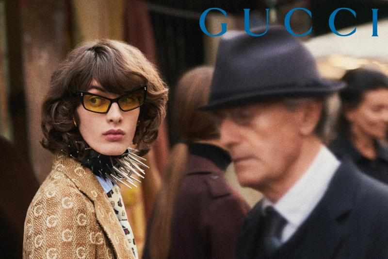 GucciPretAPorter Fall Winter 2019 Campaign Glasses Black Yellow Coat Tan