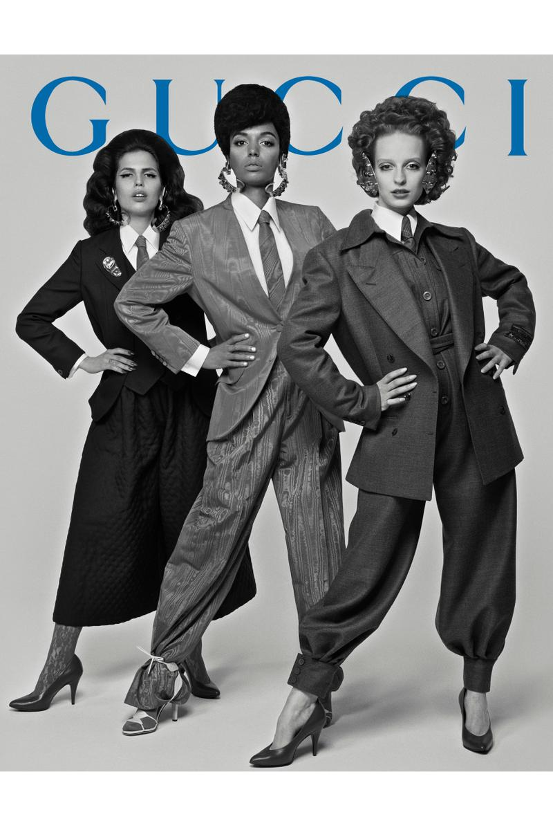 GucciPretAPorter Fall Winter 2019 Campaign Suits Pants Grey Black Shirts White