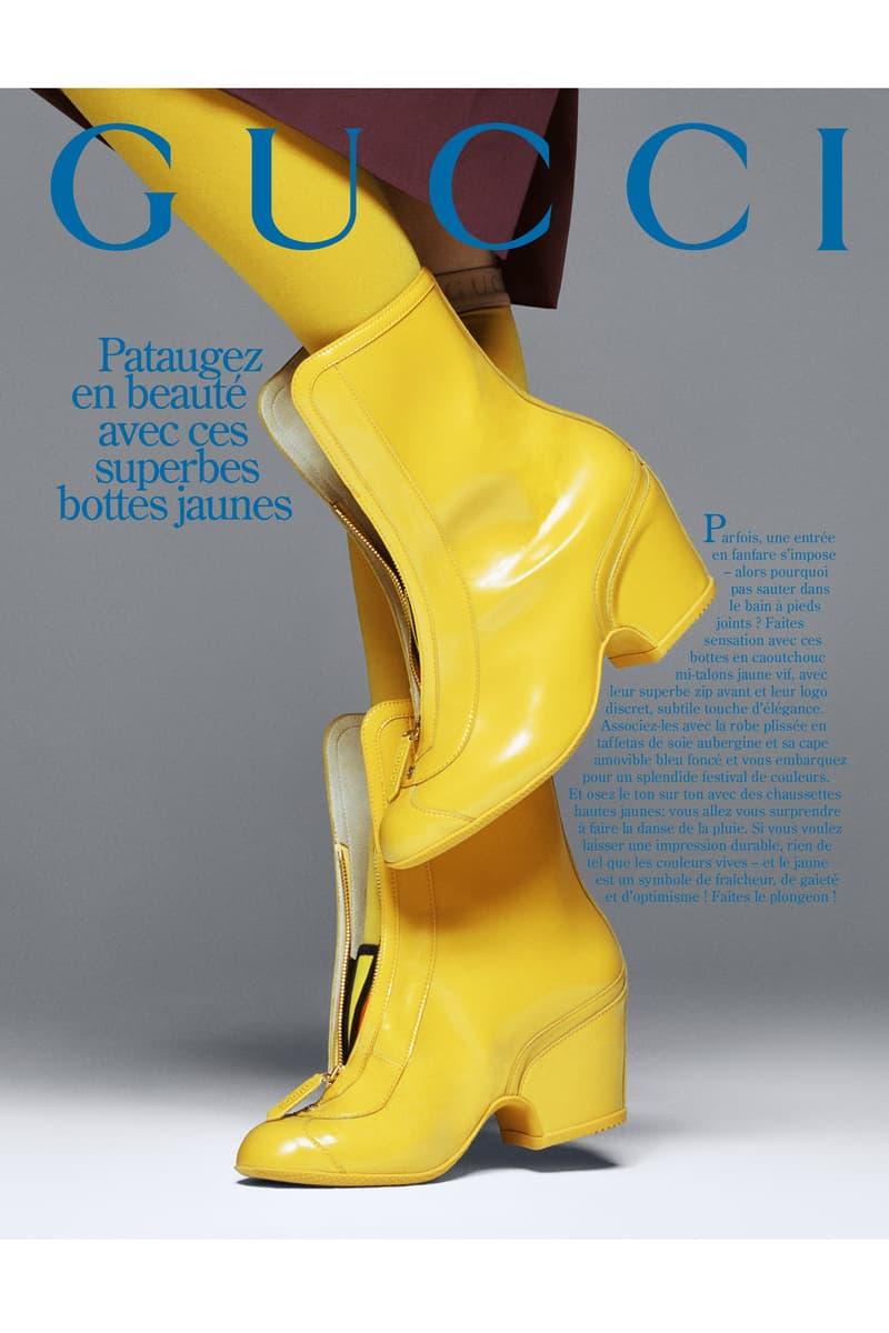 GucciPretAPorter Fall Winter 2019 Campaign Boots Yellow
