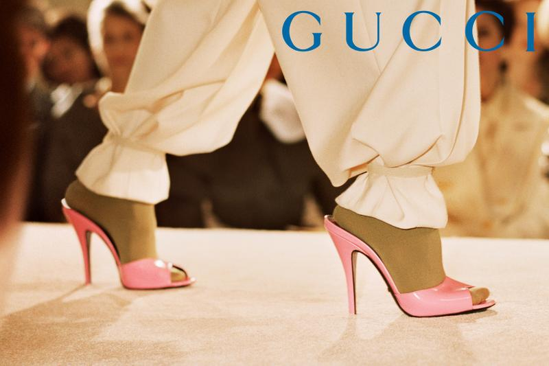 GucciPretAPorter Fall Winter 2019 Campaign Sandals Pink Pants White